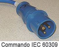 Blue Commando slow/fast charger connector