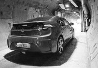 Vauxhall Ampera exits the Channel Tunnel