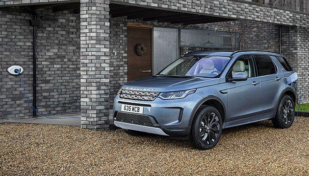 Land Rover Discovery Sport P300e charging