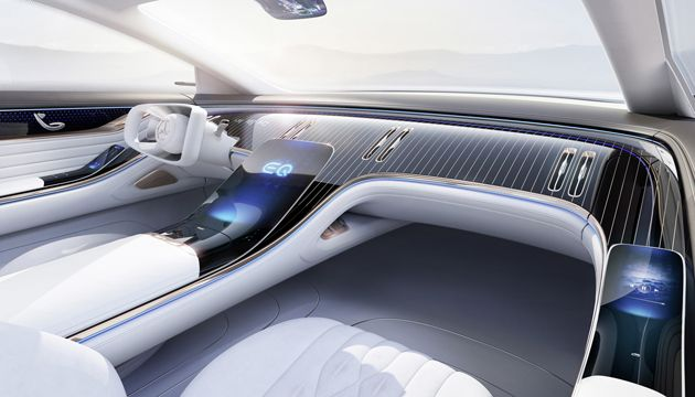 Mercedes Benz Vision EQS interior