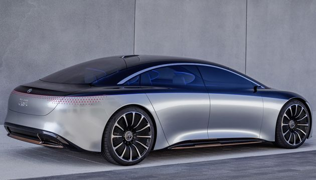 Mercedes Benz Vision EQS rear