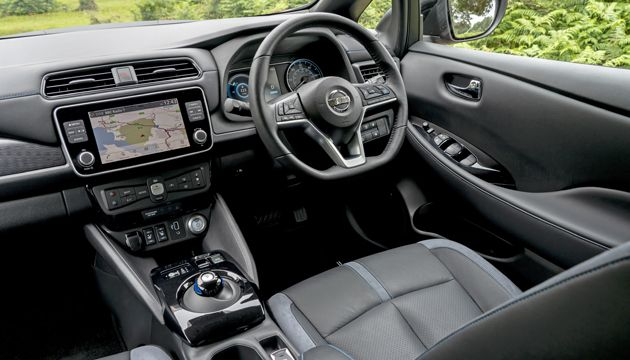 Nissan Leaf e+ first drive interior
