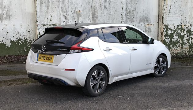 Nissan Leaf long-term rear
