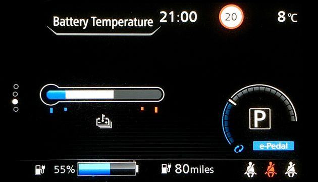 Nissan Leaf long-term battery temperature