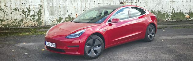 Tesla Model 3 - Top 10 EVs UK 2020