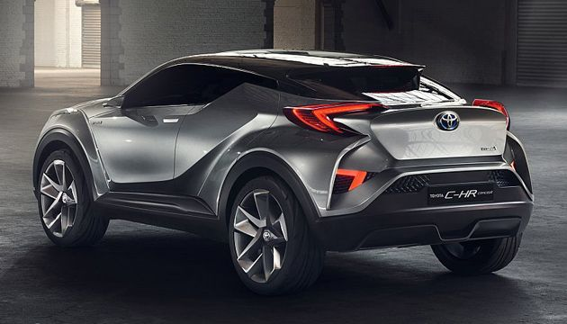 toyota announce hybrid chr concept will be made next. Black Bedroom Furniture Sets. Home Design Ideas