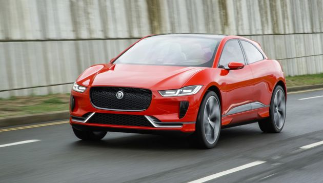 Jaguar I-Pace driven on London roads