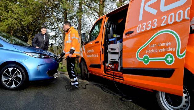 RAC develops mobile charger to deliver 'EV Boost' to electric vehicles