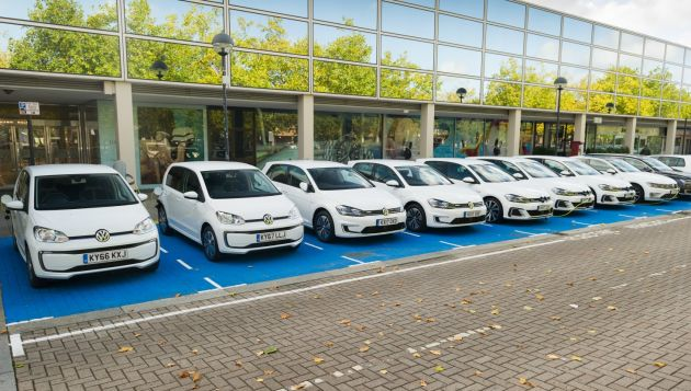 VW demonstrates strength of its electric range