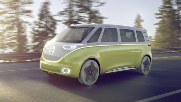 VW reveals all-electric Microbus with I.D. Buzz