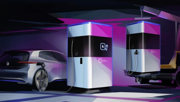 VW unveils mobile rapid charger