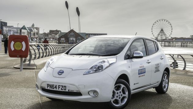 Nissan LEAF taxis arrive in Blackpool