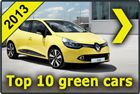 Top 10 green cars 2013