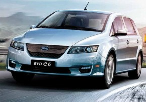 BYD e6 82 kWh MY 2016, Electric (av UK mix), CO2 emissions 0 g/km, MPG 126.3